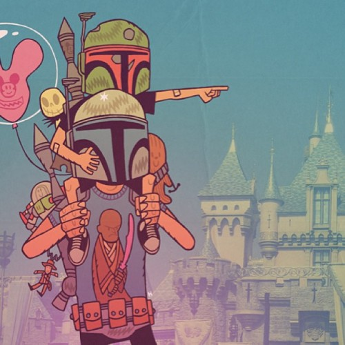 """The Family Business"" - like father like son #mrhipp  #disney #bobafett #janga #starwars"
