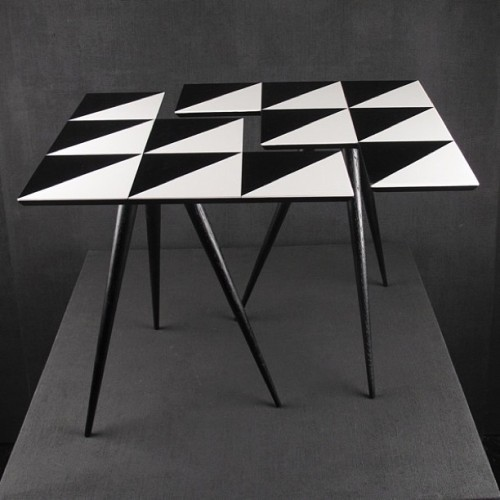 Side #tables HAWK 6 from the 'Geometric Living' line of ROCKMAN & ROCKMAN++ #symmetrical #patterns