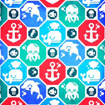 New Marine Animals pattern: http://society6.com/chobopop/Marine-Animals-Geometric-Pattern_Print