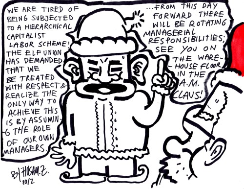 Claus Commune by Husam Zakharia #workersrights #christmas