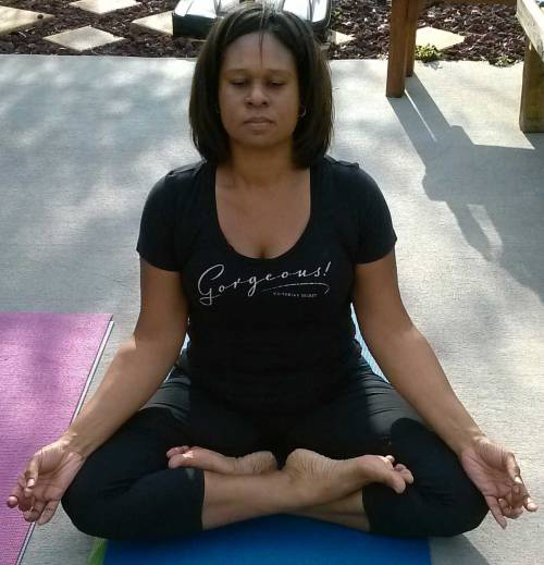 Lotus pose   Padmasana Yogi Nikki Thank you for your photo submission