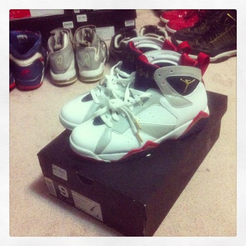 todays pick up. #olympicvii #jordan7