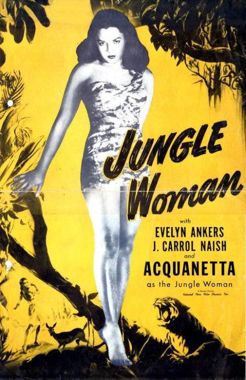 (via Jungle Woman 1948 Realart Pressbook (Zombos' Closet ))