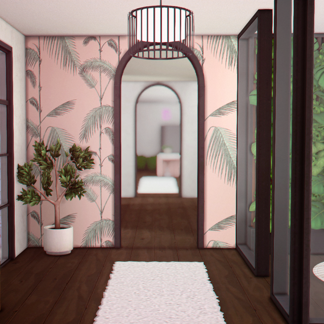 MAKING IT TO THE MANSION  BGC: AMBROSIA HOUSE TOUR   the phone room & the kitchen #sims 4#ts4 #sims 4 interior #ts4 interior#sims interior #making it to the mansion #house tour