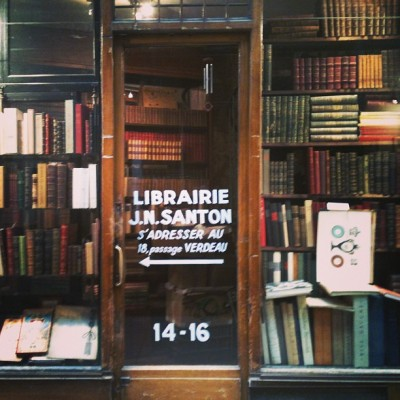 mollyw0bbles:  Old books everywhere in les passages couverts in #paris