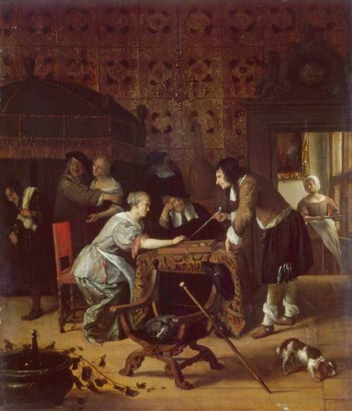 The Tric-Trac Players by Jan Steen Date: 1667