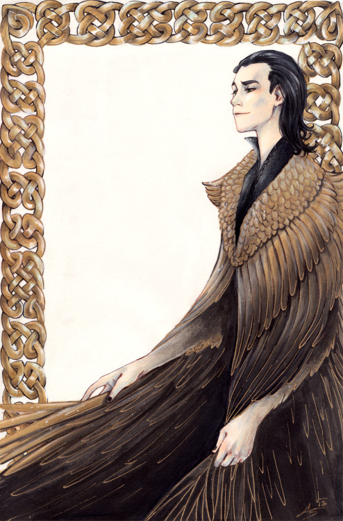 litzebitz:  Loki based on the poem Þrymskviða where he wears Freyjas feather cloak.And because of THIS awesome cloak!