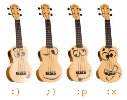 "Baton Rouge Guitars launches ""smile"", a emoticon-themed soprano ukulele line"