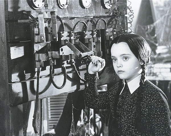 We have a serious crush on Wednesday Addams, enough to incite homicide. Check out the post, only at http://blog.unholyhips.com