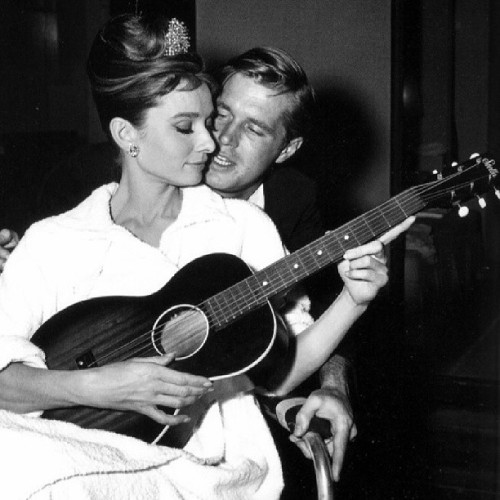 George Peppard and Audrey Hepburn ♥