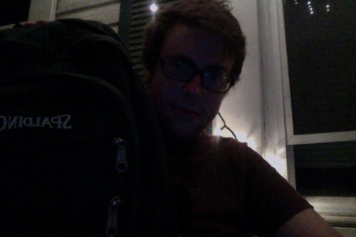 a new haircut & a backpack