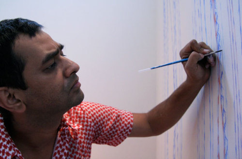 asiasociety:  Multimedia: Artist Imran Qureshi Creates 'Dialogue' in Site-Specific Installations As the acclaimed Pakistani artist returns to New York City with a major new installation, a look back at his site-specific work for Asia Society Museum in 2009. Read the full story here.