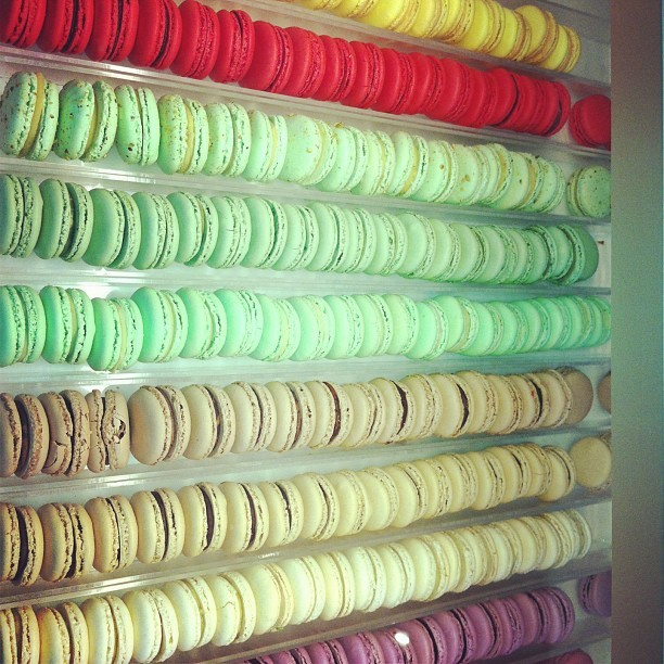 Morning rainbow snack extravaganza eleganza (at Nadege Patisserie)