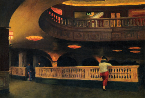 theartgeeks:  Sheridan Theatre ~ Edward Hopper