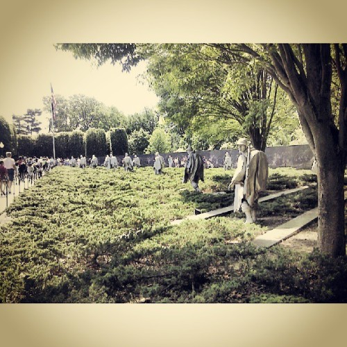 Korean war memorial  (at Washington, DC)