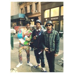 Downtown w/ the young homie Joey badass
