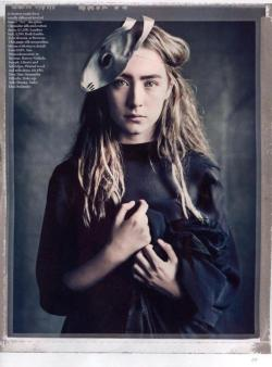 VOGUE UK April 2013 issue / Saoirse Ronan photographed by Paolo Roversi styled by Lucinda Chambers