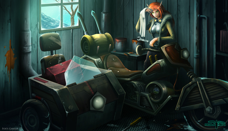 """Fox's Garage"" by Serathus"