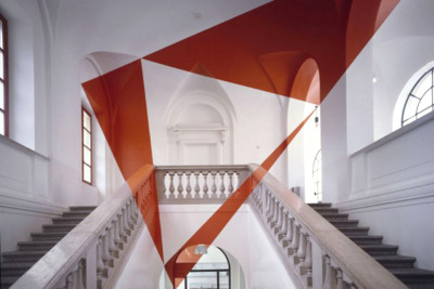 Felice Varini's Optical Illusions Painted on Architectural Spaces
