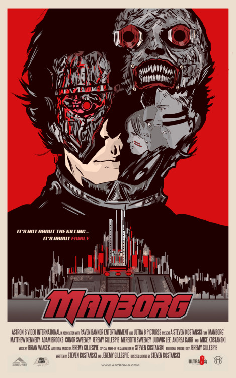 My poster design for the amazing Astron 6 film: MANBORG. (@mctherrien)