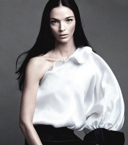 romanticnaturalism:  Mariacarla Boscono wears Givenchy S/S 2013 on the cover of L'Express Styles April 2013, photographed by Txema Yeste (text removed by me)