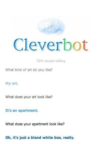#truth from Cleverbot on the contemporary art gallery