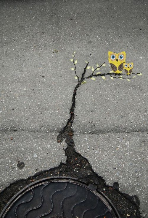 catastrophe-urben:  (via art in the cracks of the street - Imgur)