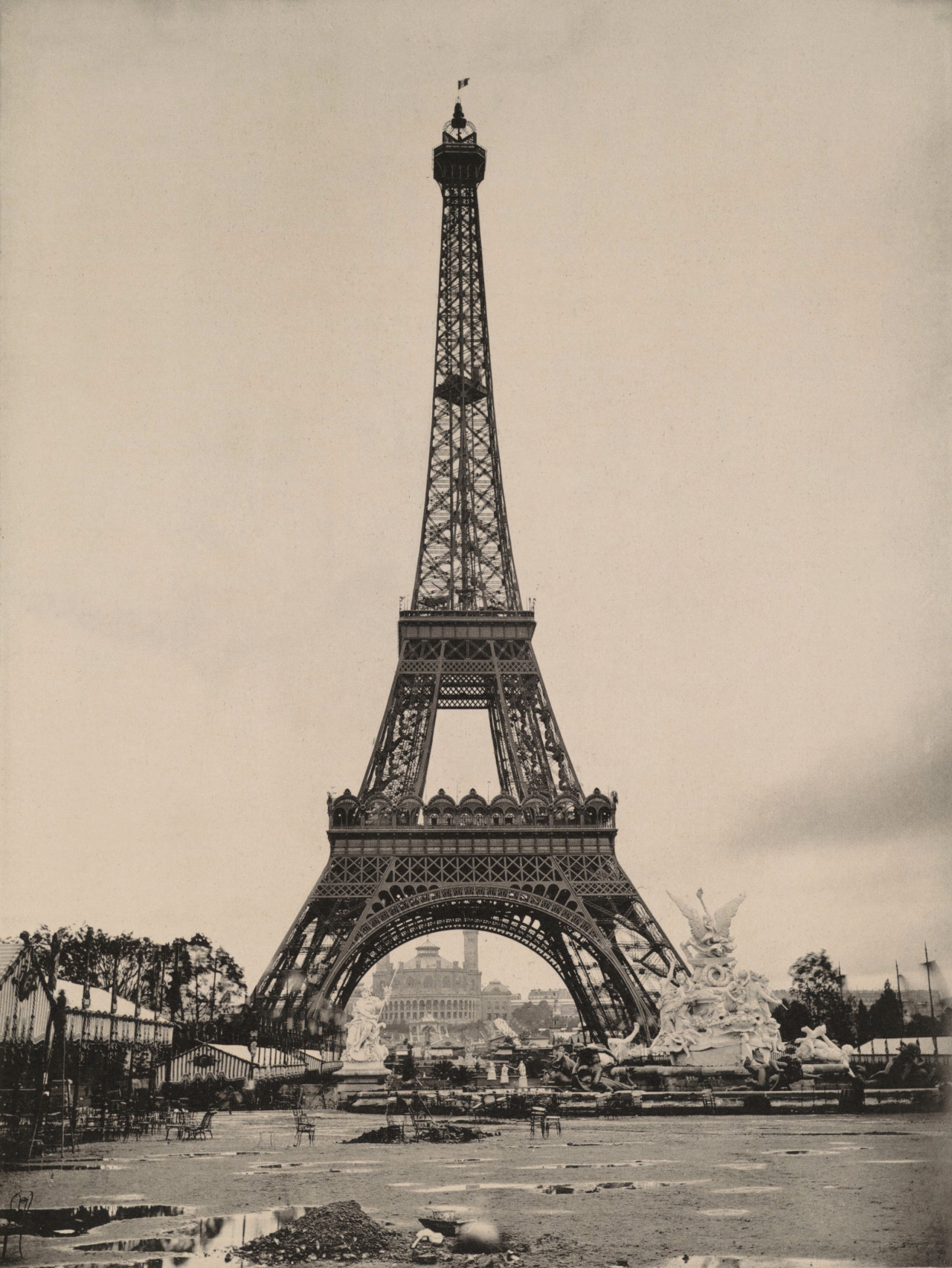 The Eiffel Tower during the 1889 World's Fair, Paris