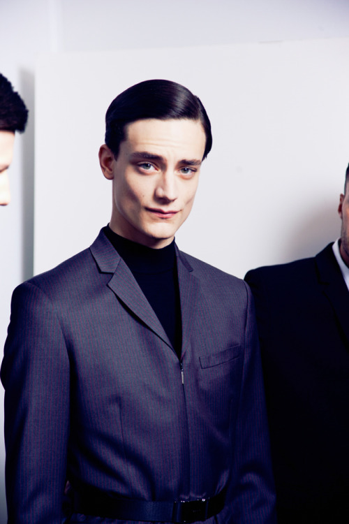 leacolombo:  Thomas Bukovatz at Dior Homme A/W13 by Lea Colombo