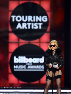 "She's still the queen - Madonna accepting the award for ""Top Touring Artist"" during the Billboard Music Awards at the MGM Grand Garden Arena in Las Vegas, May 19, 2013."