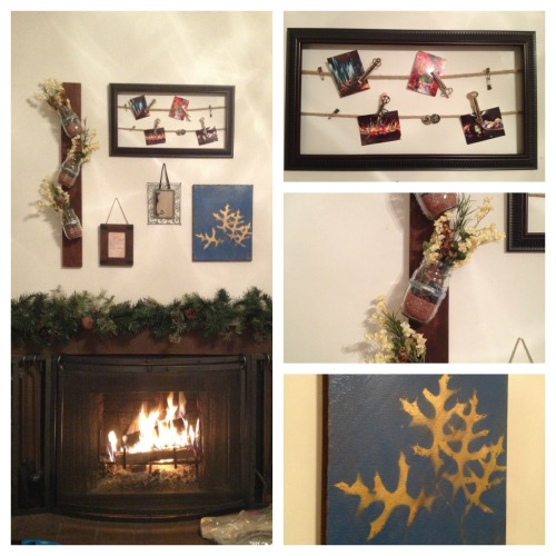 So excited about my new fireplace decor! When it came time to take down my lovely Christmas fireplace decorations (three shadowboxes full of ornaments), I realized how empty the space was going to look and how tired I was of my old art. Sooooo… I got super crafty a week or so ago and thanks to Pinterest and a little imaginative thinking of my own (and my friend Jen's impeccable taste in flowers), I managed to fill the space with an array of things that make me smile every time I look at them. How-to's coming soon! Gotten crafty lately? Share down below!