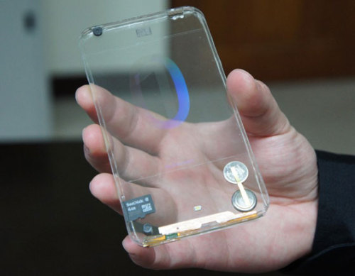silentskyking:  maxiapple:  Polytron Transparent Smartphone Prototype : 1st Hands On (Video)  Oweee shieaattt