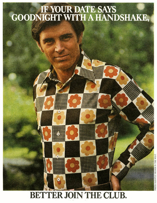 superseventies:  1970s menswear advertisement.