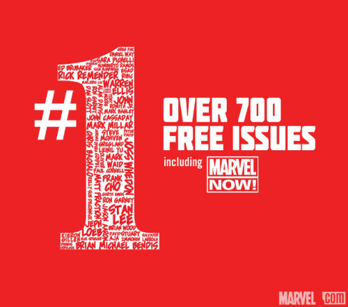 laughingsquid:  Marvel #1, Limited Time Release of Over 700 Free First Issue Comics