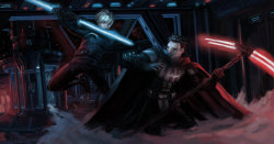ymirr:  Darth Boogeyman VS. Jack Skywalker by *YmirrCOLOR PROFILE MY ETERNAL ENEMY!!!Belated B-day gift eh Bes… You asked for this…I used this thing to help me out with hte background… Because reasons 8[