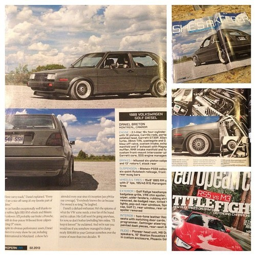 My latest feature in @europeancarmag came in today! I suppose it will be out in stores soon, pick up a copy! #supportprint #jordandonnelly #v2lab @paul_vagscene @autostyles
