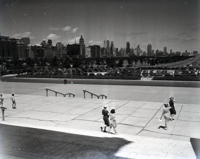 Looking north from the Field Museum, 1943, Chicago