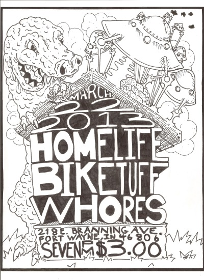 here's a flyer i did for my friends in whores.