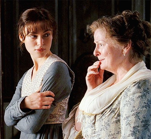 """Jane Austen always got much better with her father than her mother, just like Elizabeth Bennet. Her mother was a hypochondriac, like Mrs. Bennet and wasted a lot of money in Bath on quack doctors for imaginary illnesses."""