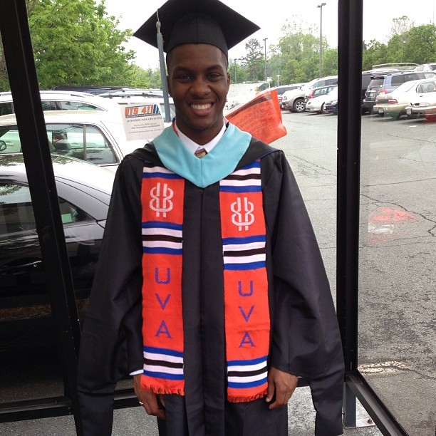22years old Graduating with a Masters Degree Today from #UVA #HardWork&Dedication #TheWorldIsYours #KeepGoing