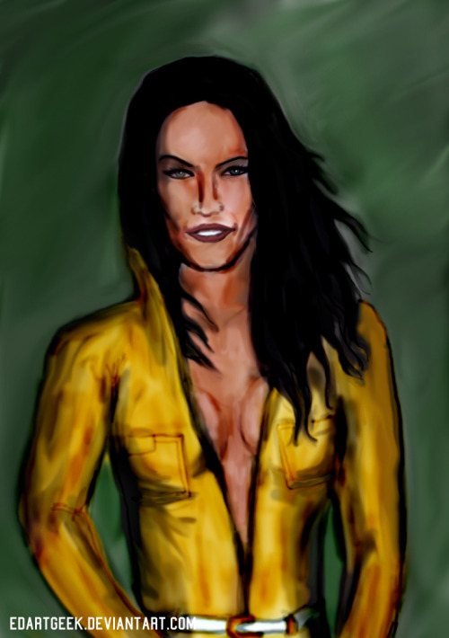 I read about Michael Bay casting Megan Fox as April O'Neil in the new TMNT movie. So I made this portrait.
