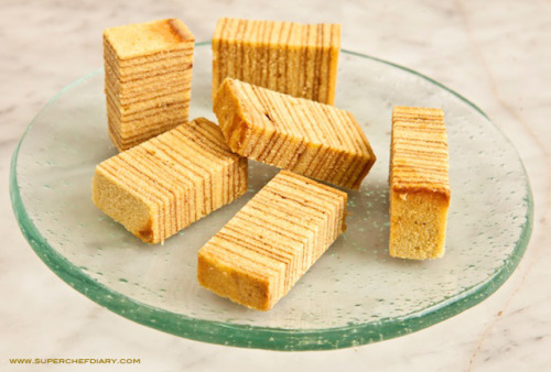 Lapis Legit - Cinnamon Layers Cake Indonesian pastry of many layers with very strong cinnamon flavor. It is really good to accompany your afternoon tea or you can have it as a dessert with cinnamon-yogurt ice cream.