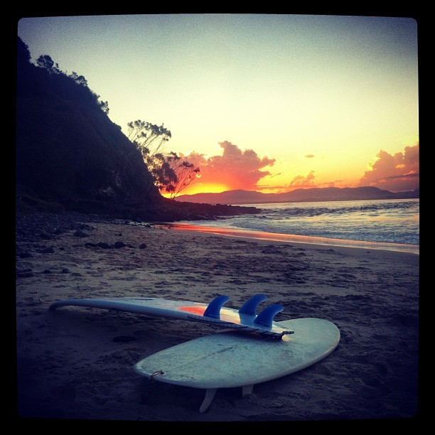 It was all a dream….until next time Byron Bay! Thanks @pmtenore @rvca_aus @rvca_europe @rvcaskate @rvcasurf for the great memories #rvcacaraVAn (at Wategos Beach)