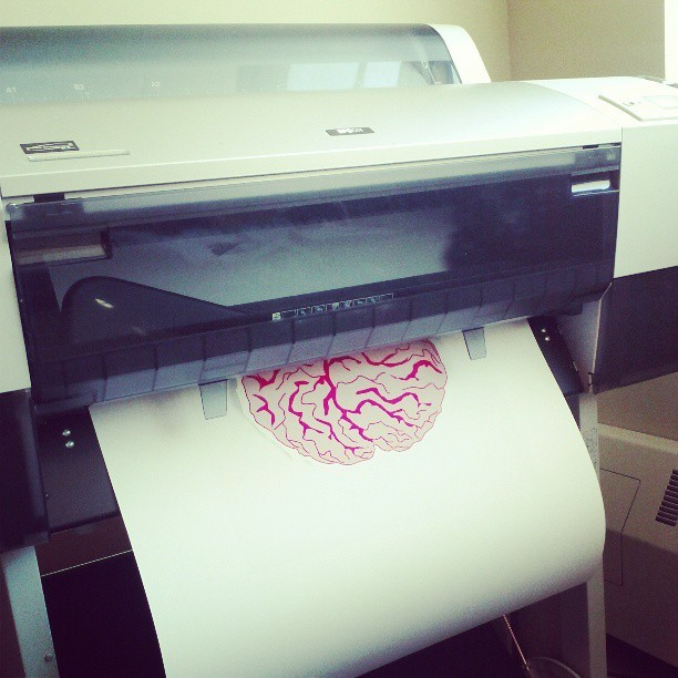 Printing my poster. This is taking forever. #poster #art #graphicdesign #graphic #design #brain #print