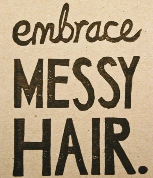 thatonezebragirl:  My view on my wurly hair. :)