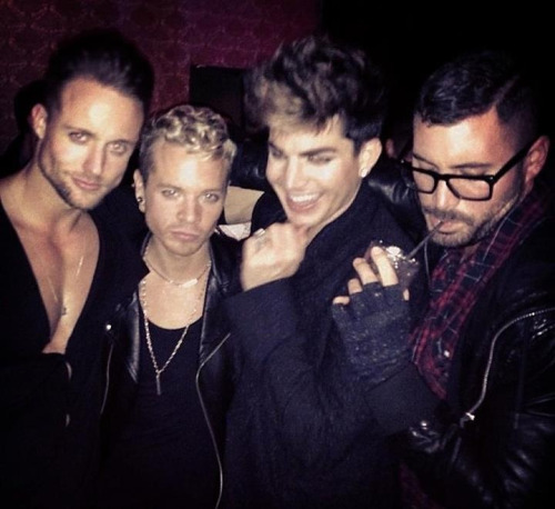 lowlizah:  (via xandertarigo on Instagram)  Simon_says_adamlambert @RASPUTIN⭐RUSSIAN LOVE MACHINE