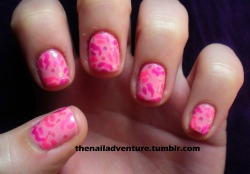 Pink Squiggles Sorry about the nasty cuticles, the cold has been harsh on them.