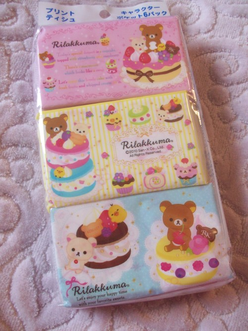 mk-commodities:  Product Spotlight: Rilakkuma Tissue Set  This tissue pack comes with 6 packages of adorable printed tissues - they're almost too cute to use! Their small size makes them so perfect for keeping in your purse or school bag.There are three designs of packs, with two of each (making 6 total).This pack of tissues is only $4 for the entire thing! Click HERE to check it out, as well as all our other cute products from Swimmer, San-x, and more!