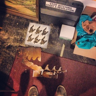 Looking Down //: #makewaves #studiosession (at Mayo Island Studio Collective (MISC))