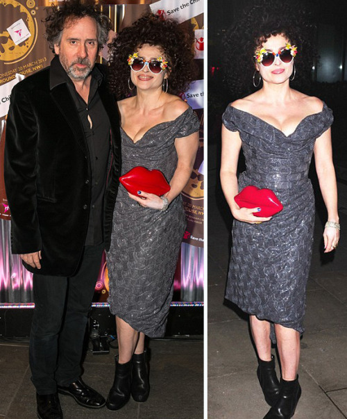 suicideblonde:  Tim Burton and Helena Bonham Carter at an event in London, March 20th